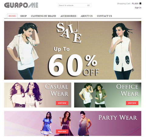 GuapoMe-fashion-portal-development