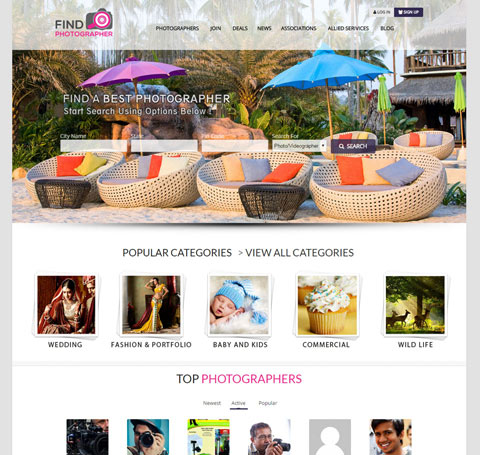 search-portal-vadodara-website-findphotographer